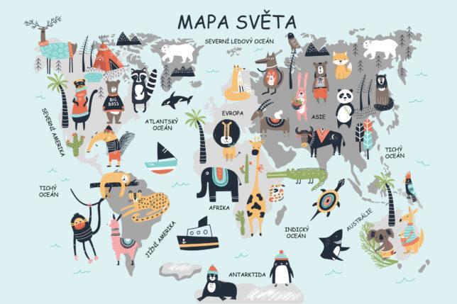 Mapa světa 4