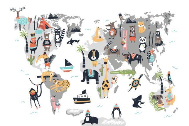 Mapa světa 3