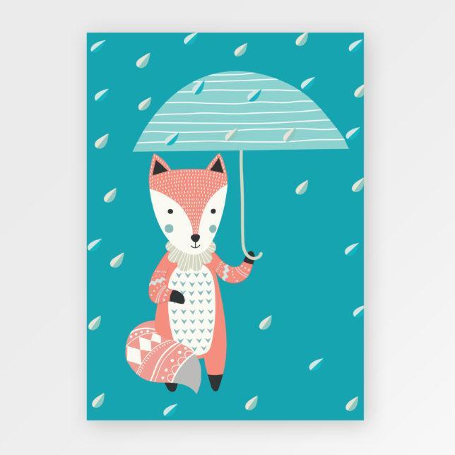 Liška s deštníkem 1