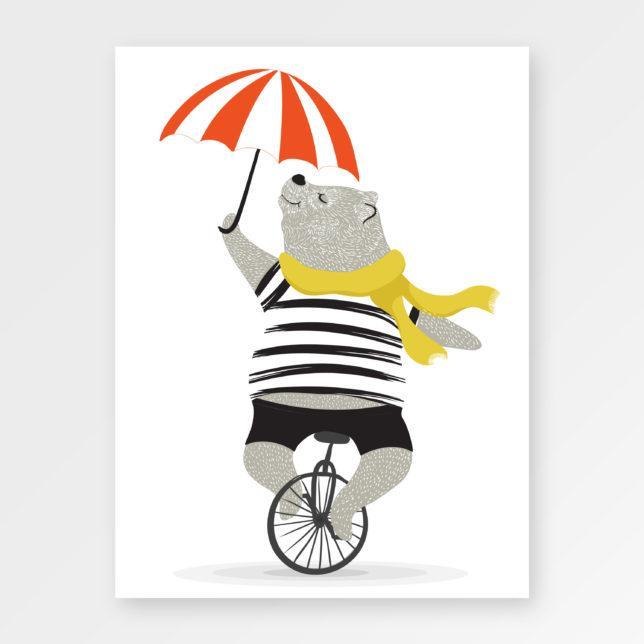Medvěd s deštníkem 1