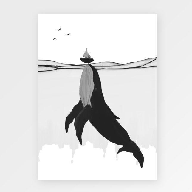 Velrybka s plachetnicí 1