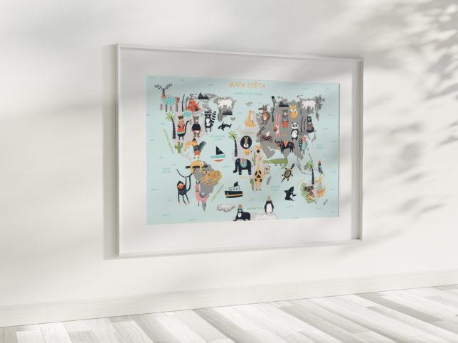 Mapa světa se zvířátky 2
